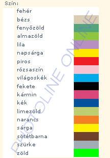 PENTART textilfesték, 20 ml 24 féle színben