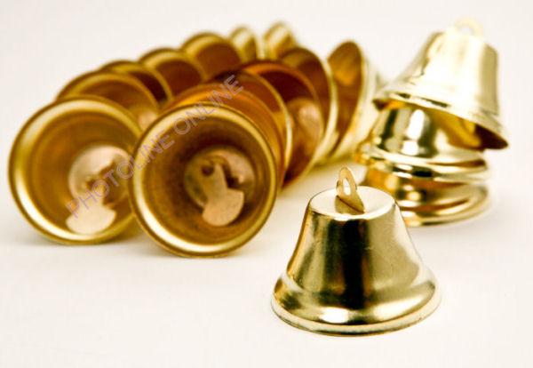 Csengettyű csomag, sárgaréz csengők, 38mm, (3db)