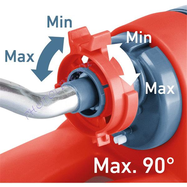Locsoló, talpas - lengőfejes (oszcilláló), kuplung csatlakozóval