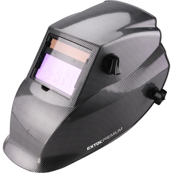 Hegesztőpajzs, automatikus, önsötétedő, állítható érzékenység+sötétítés, carbon design (8898027)