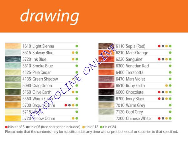 Derwent Drawing rajzceruza 1610 light sienna