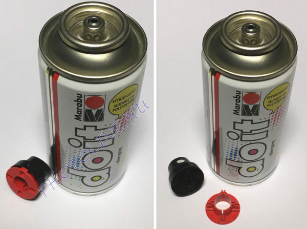 Akrilspray Marabu festék spray 150ml fényes fekete