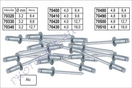 Popszegecs ALU 50DB, 4,8x9,6 mm